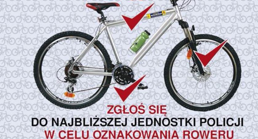 Bezpieczeństwo, szansy złodziejowi oznakuj swój rower! - zdjęcie, fotografia