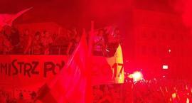 Uroczysta feta po zdobyciu  tytułu Mistrza Polski.