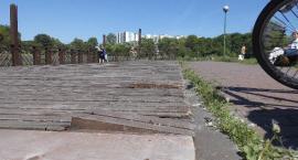Pomost w Parku Szczęśliwickim.